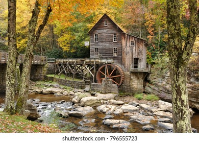 Babcock State Park, West Virginia, USA, October 10, 2015Glade Creek Grist Mill
