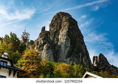 Babin zub (The Grandmather's tooth) is the most beautiful peak of Stara planina ( Balkan mountains ). The impressive and  big striking rocks and dense plants on the top. Serbia summit