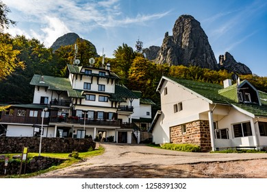 Babin zub (The Grandmather's tooth),  Stara planina ( Balkan mountains ) / Serbia - 09.23.2018 - Hotel on the most beautiful peak of  Old mountain. The impressive and  big striking rocks.