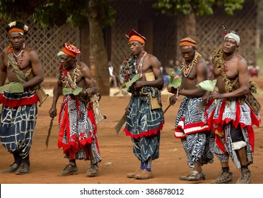 BABUNGO KINGDOM - CAMEROON / 18.01.2015: Traditional African dance is an essential element of Africa's cultural heritage, providing a vital expression of the region's philosophy