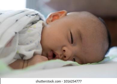 Baby 1 month sleep 23 March 2018 Thailand