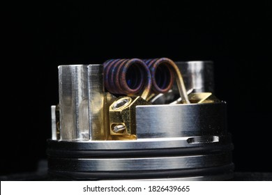 Baby alien coil build on vaping rebuildable dripping atomizer