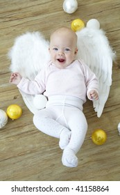 baby with angel's wings