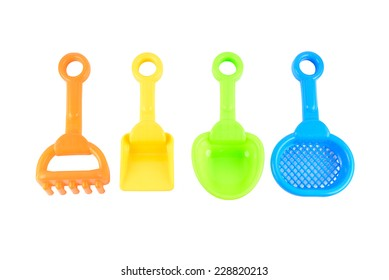 Baby beach sand toys Isolated on white background