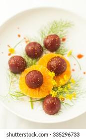 Baby Beet-Tangerine Salad with Fennel Pollen