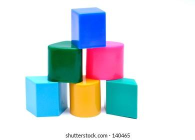 Baby blocks, isolated