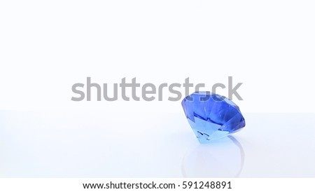 Baby Blue Diamond Made Glass Isolated Stock Photo (Edit Now ... 47bf1297a