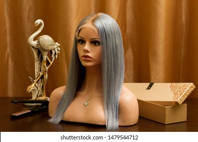 Baby blue lace front wig