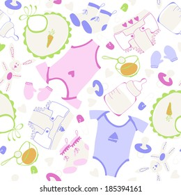 Baby boom, seamless tile, can be used as background