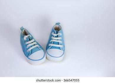 baby booties; blue;