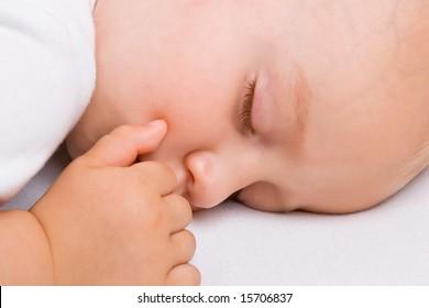 Baby boy asleep