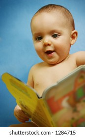 Baby Boy with Book [approx. 7 mos.]