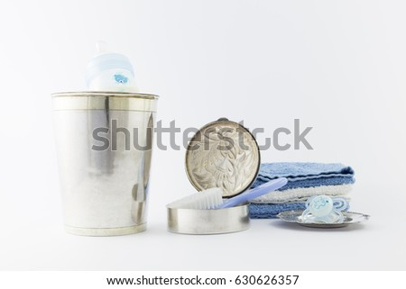 c4c89a805d88 Baby Boy Luxurious Items Collection Isolated Stock Photo (Edit Now ...