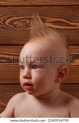 Baby Boy Mohawk Hairstyle On His Stock Photo Edit Now 1240956790