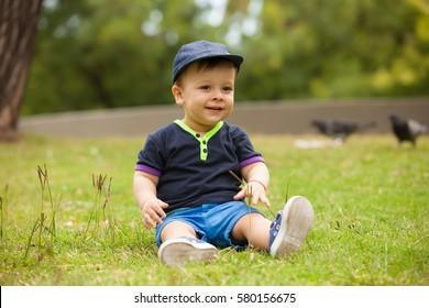baby boy in a park