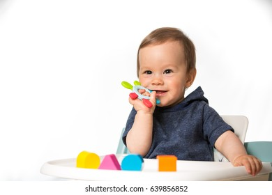 Toys For A 9 Month Old : Months toys months old baby boy playing with toy car and tower
