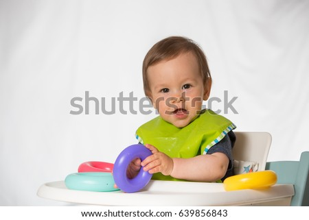 Toys For A 9 Month Old : Baby boy playing chewing toy monthold stock photo edit now