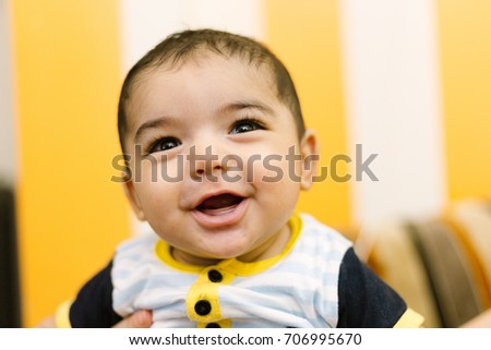 7bc762844 Baby Boy Portrait Innocent Baby Face Stock Photo (Edit Now ...