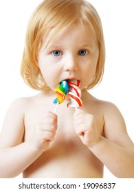baby with candy
