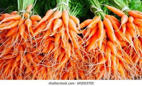 Baby carot in market