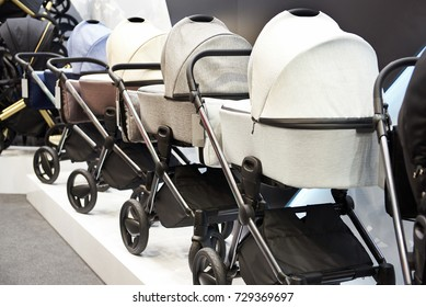Baby carriages transport for newborns in the store