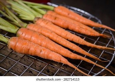 Baby carrots, fresh vegetables grown with pesticides and non-toxic. And delicious
