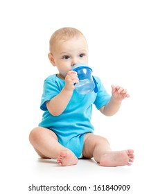 baby or child drinking from bottle