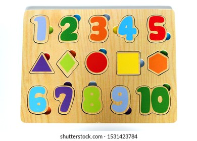 Baby or child wooden number jigsaw puzzle