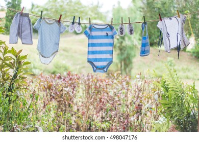 Baby clothes for background.copy space