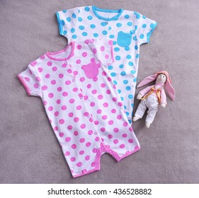 9756c377a846 Infant Girls Patterned Clothes On Rope Stock Photo (Edit Now ...