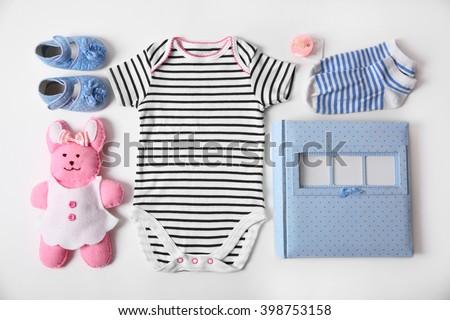 Baby Clothes Toy Photo Album On Stock Photo Edit Now 398753158