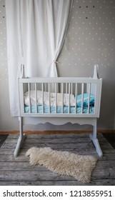 Baby cot in baby room