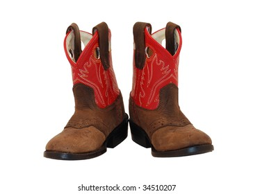 Baby cowgirl boots from front