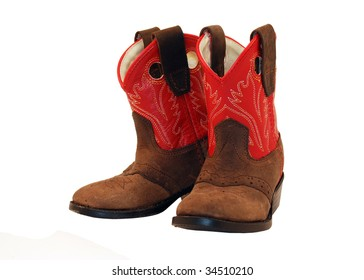 Baby cowgirl boots isometric