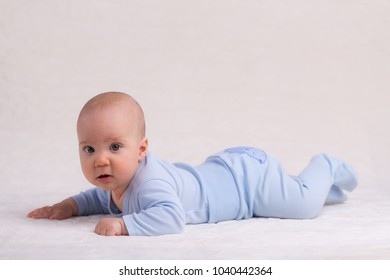 Baby Crawling on Carpet