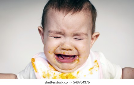 Baby crying during mealtime