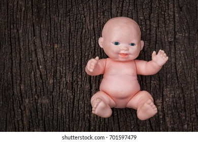 Baby doll on wood table