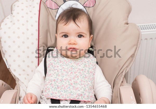 Baby Eating Solid Food Bib Led Stock Photo Edit Now 1354655468