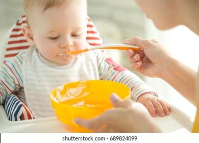 Baby eats