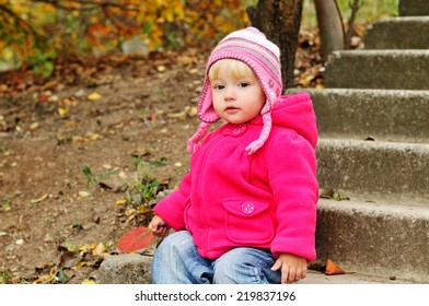 baby in fall time outdoors
