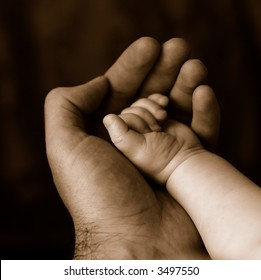 Baby and Father Fingers