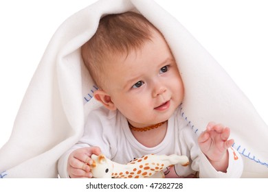 a baby gesticulates like a real politician