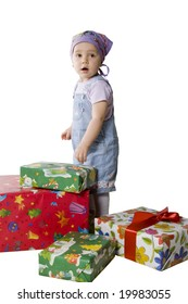 baby with gifts