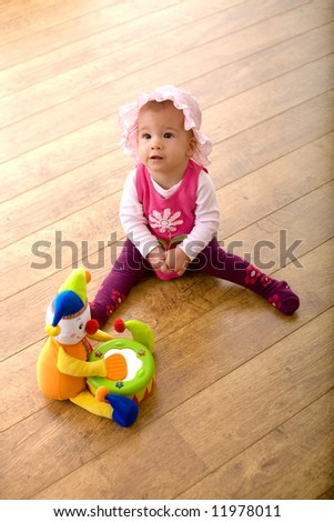 Baby Girl 9 Months Sitting On Stock Photo Edit Now 11978011