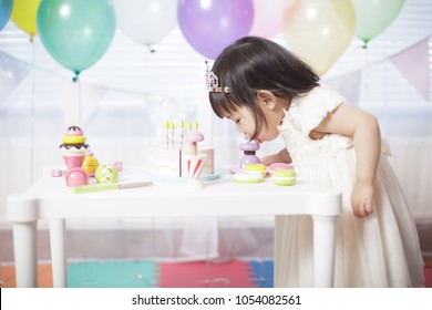 Baby girl celebrate her second birthday