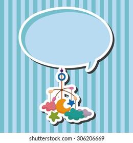 baby hanging, cartoon speech icon