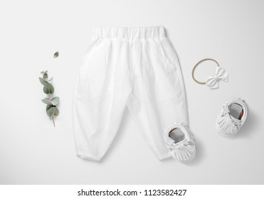 Baby Lantern Harem Pants Mockup Set LITTLE FASHION SERIES