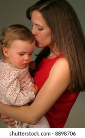 baby with mom