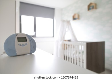 Baby monitor in baby bedroom