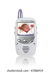 A baby monitor isolated against a white background